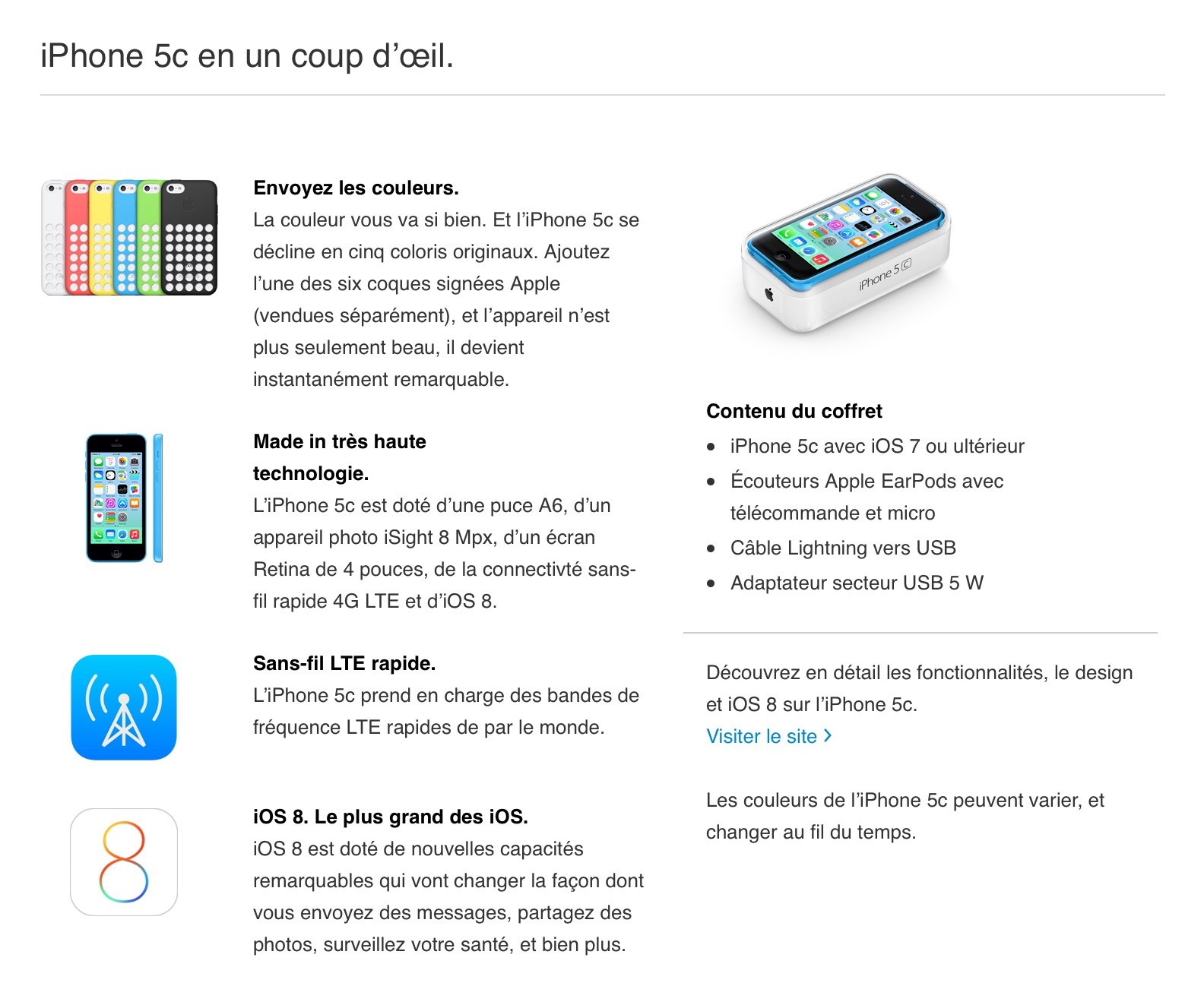 Apple iPhone 5C 8GO - TelOneiPhone.fr