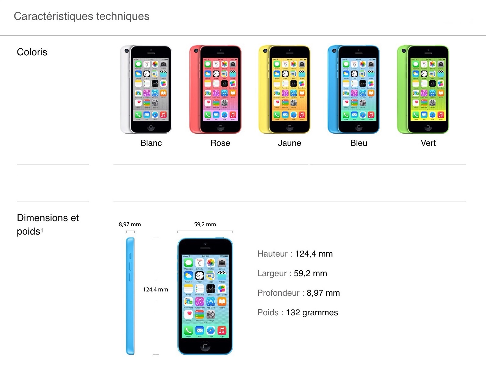 Apple iPhone 5C 8GO - TelOneiPhone.fr