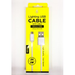 Cable Micro USB 2 Mètres One Plus - TelOneiPhone.fr