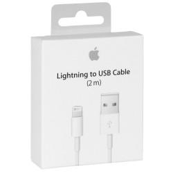 Cable Lightning vers USB Original APPLE (2m) - TelOneiPhone.fr