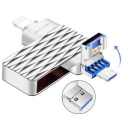 Clé USB Suntrsi 2.0 - 3 en 1 clé USB haute vitesse 64 go  pour iPhone intelligent 7/8/x/xr/iPad/Android