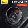 BASEUS - Chargeur LED Auto  - Voiture de Luxe  - 24W 4.8A