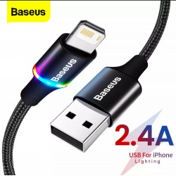Câble USB Baseus LED -  Lightning