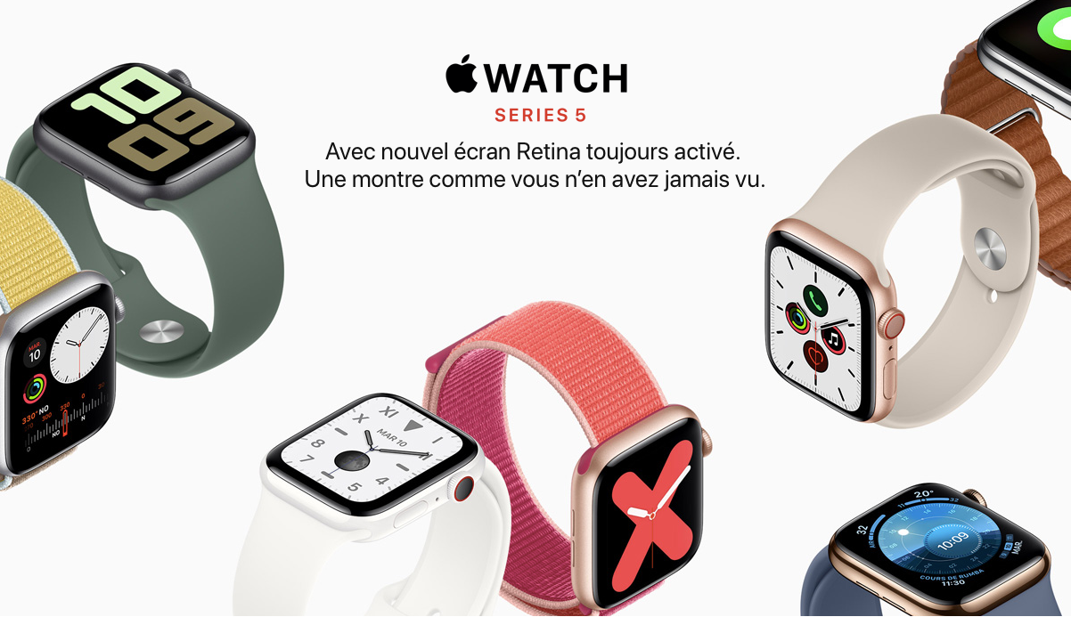 Apple Watch Series 5 - TelOneiPhone.fr